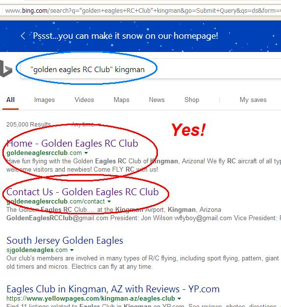 Bing DID find our pages on the web!