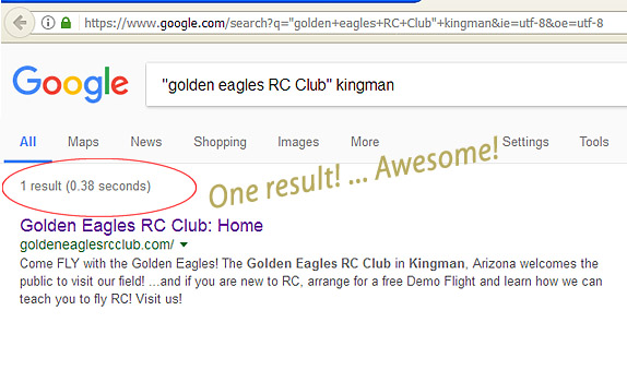 Google FOUND us... Success with the SEO!