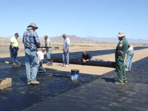 "Geotextile Model Runway installation ""Paving"" Aux. Field #1 – April 14, 2018"