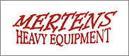 A super-big Thank You to Mertens for their helping us with heavy equipment rentals!