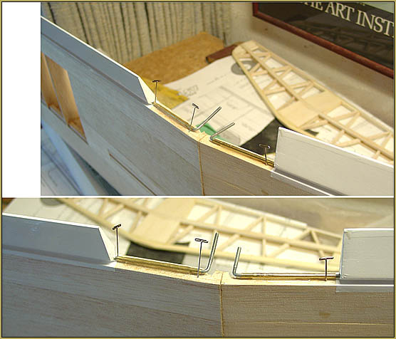 Epoxied the brass sleeves to the trailing edge.