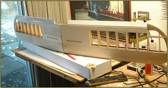 Ailerons hinged and mounted to the wing... Sig Astro Hog build.