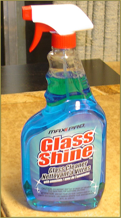"""MAX PRO GLASS SHINE"" with Amonia has the ""power"" to react with the Monokote covering material. Better than Windex??"