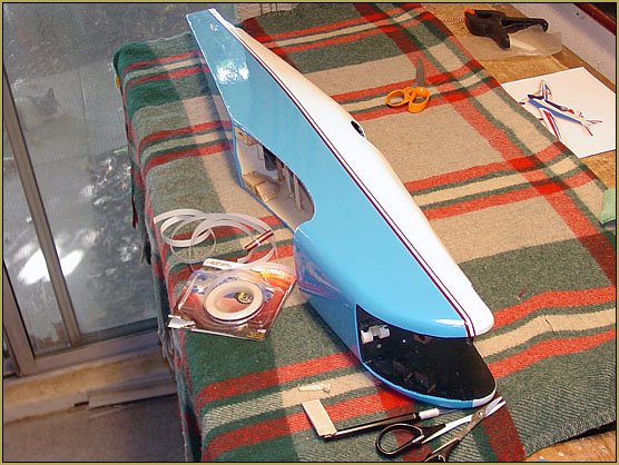Automotive detail striping tape applied.