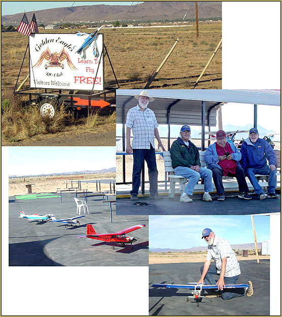 The Kingman Golden Eagles manned the flying-field to accommodate the many visitors sent-over from the EAA event.