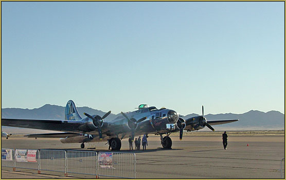 B-17 Sentimental Journey at the EAA fly-in in Kingman, 10-10-19.