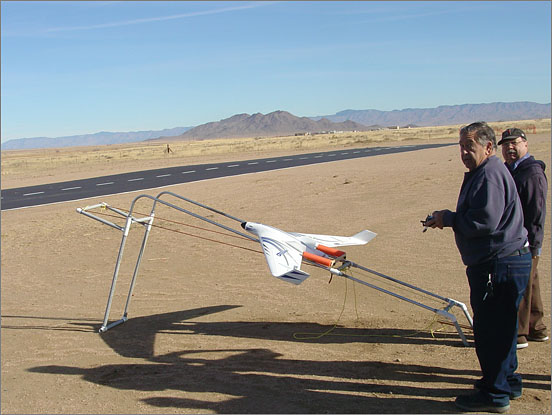 Rick Atkeson and Bruno Russo created a wing-launching catapult for the club!